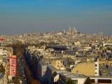 Montmartre district from Arch of Triumph
