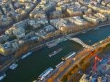 The Seine river from Eiffel Tower