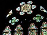 Stained glass of Notre Dame