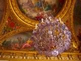 Painting of chandelier and ceiling
