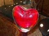 Glasswork of heart