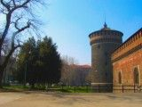 Surrounding of Sforzesco castle