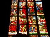 Stained glass of vivid color taste