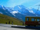 Jungfrau railway and mountains