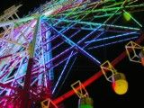 Palette town large Ferris wheel at night