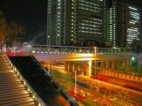 Pedestrian bridge in Saitama New Urban Center