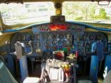 Cockpit of old airplane
