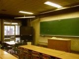 Classroom in the south schoolhouse of Keio University