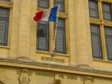 Sorbonne and French national flag