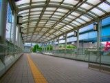Passage where roof around Tokyo Big sight adheres