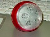 Round and red speaker