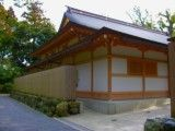 Japanese style building in Shinto shrine