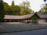 Building without wall in Shinto shrine