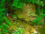 Waterfall where Cai is small