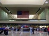 Airport and the Stars and Stripes of Los Angeles