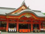 Main temple in Aoshima Shinto shrine