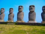 Of five moai