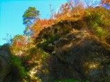 View of autumn tint and cliff