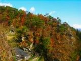Autumn tint of inclination of mountain