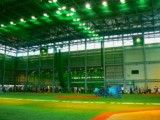 The indoor practice place of professional baseball