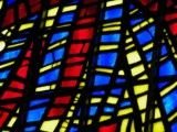 Blue and red stained glass