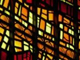 Stained glass of orange color