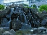 Water place of rock in whole town