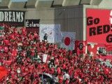 Wall and Reds supporter of Saitama stadium