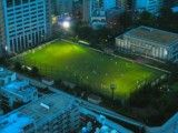 Soccer ground of evening